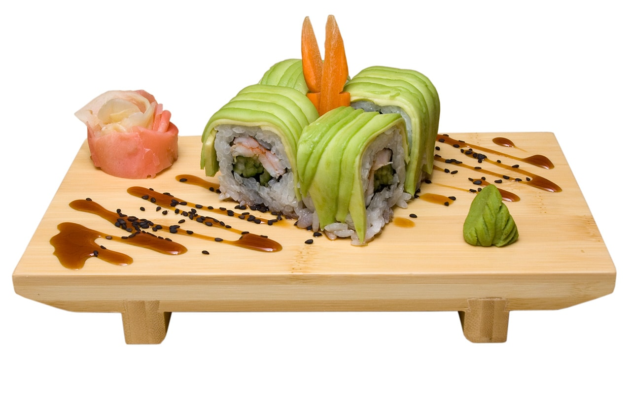 Fotografia produktowa Rzeszów zielone sushi