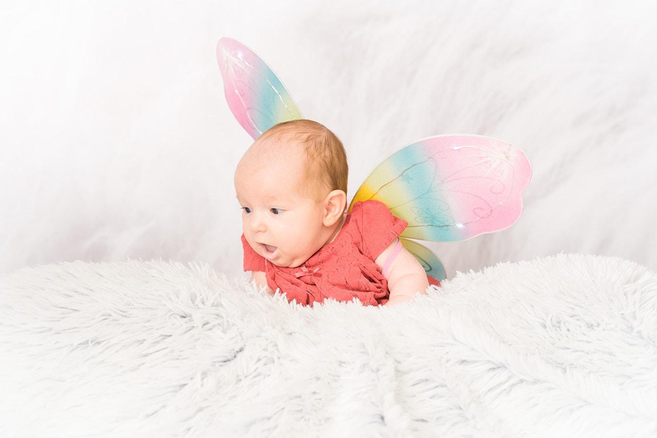 Fotografia niemowlęca Lena motylek