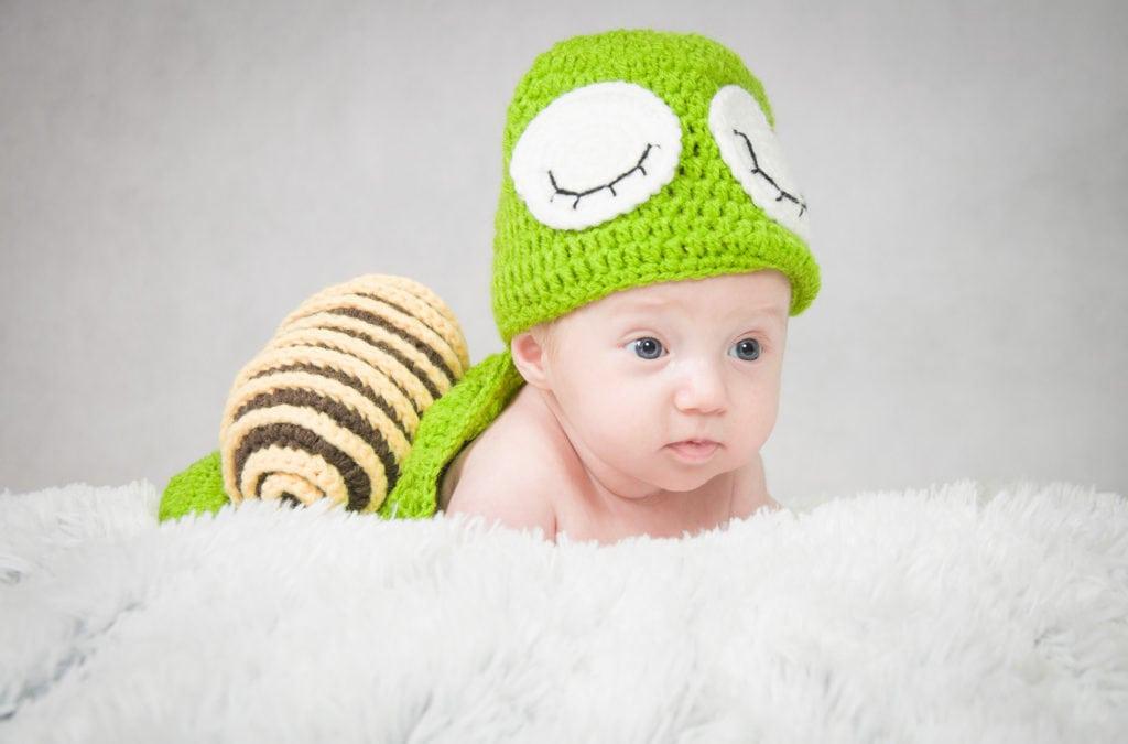 Fotografia noworodkowa Rzeszów Iga ślimak